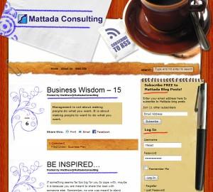Mattada Consulting Blog